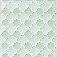 GLSMALWHLMEBFLO - Mallorca Glass Mosaic - White Linen / Message in a Bot