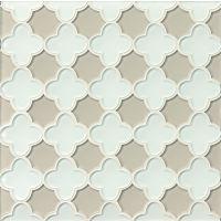 GLSMALWHLMISFLO - Mallorca Glass Mosaic - White Linen / Mist