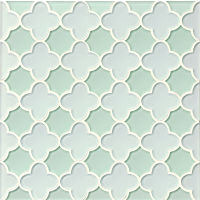 GLSMALWHLMEBFLO - Mallorca Glass Mosaic - White Linen / Message in a Bot