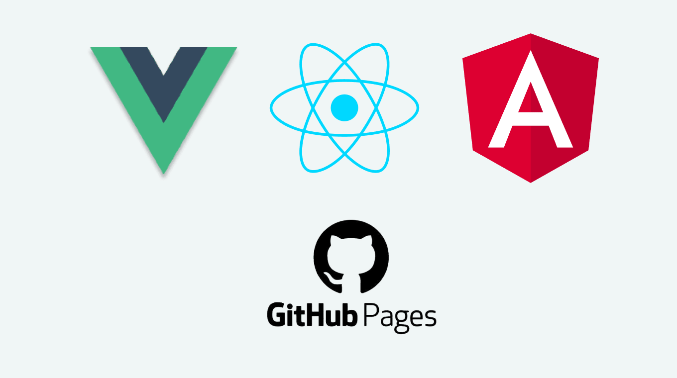 How to deploy a React, Angular and Vue project to Github pages