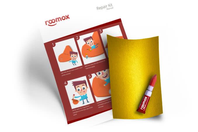 Roomox Beanbag Repairkit-NYL17 - Yellow