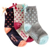 OshKosh Bgosh Girl 3-Pack Star Crew Socks