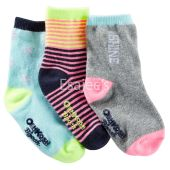 OshKosh Bgosh Girl 3-Pack Shine Crew Socks