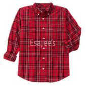 Gymboree Boy Long Sleeve Checked Plaid Shirt Red