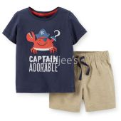 Carters Jersey Tee & Canvas Short Set 2-Piece
