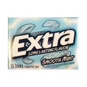 Wrigley's Bubble Gums Extra Smooth Mint Sugar Free