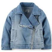 Carters  Girls Stretch Denim Moto Jacket
