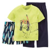 Carters  Boys 3 Piece Jersey & French Terry Pajamas & Shorts Multi