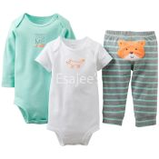 Carters Girls 3-Piece Bodysuit & Pant Set