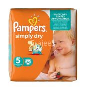 Pampers Simply Dry Baby Diapers Junior No 5