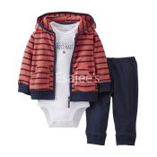 Carters Boy 3Piece Hooded Cardigan Set