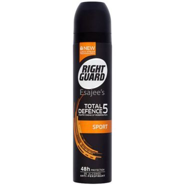 Right Guard Total Defence 5 Sport Antiperspirant Deodorant - Alcohol Free