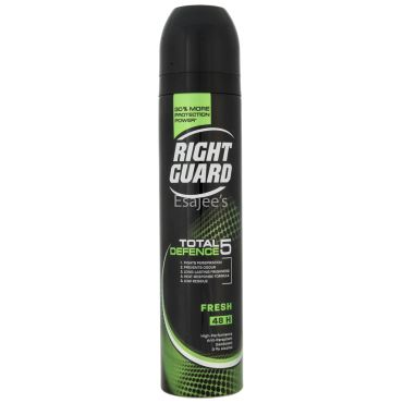 Right Guard Body Spray Total Defence 5 Fresh Anti-Perspirant Deodorant - Alcohol Free
