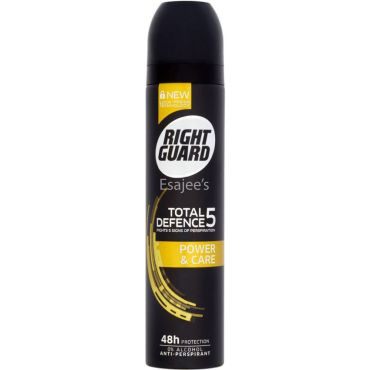 Right Guard Body Spray Total Defence 5 Power & Care - Alcohol Free