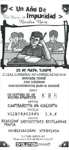 Un año de impunidad - Homenaje a Nicolás Neira