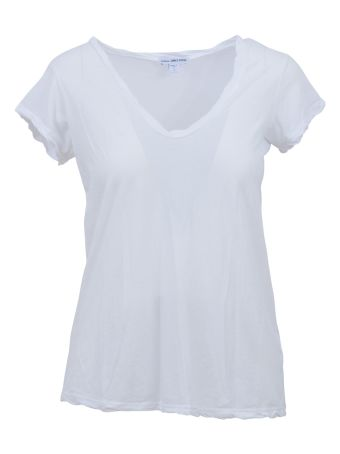 James Perse White Tee With V Neck