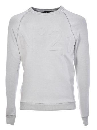 N 21 Embossed Logo Sweatshirt