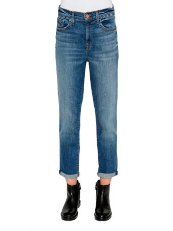 J Brand 'sadey' Cropped Mid-rise Slim Leg Jeans