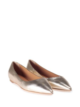 Lerre Metallic- Leather Pointed Ballet Flat