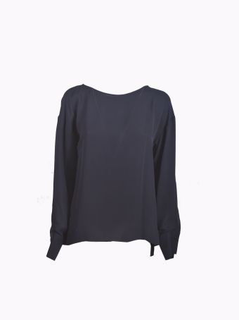 Theory Open Back Blouse