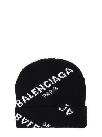 Balenciaga Cuffia Maglia Jacquard Logo