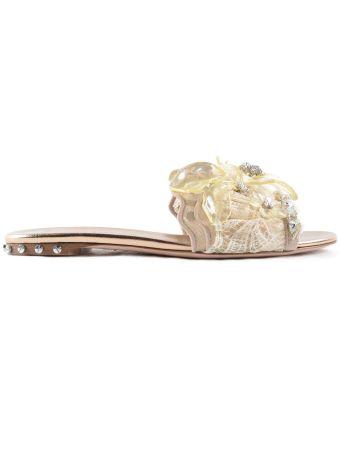 Ermanno Scervino Embellished Flat Sandals