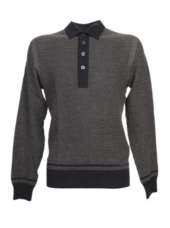 Black Silk And Cachemire Polo Shirt