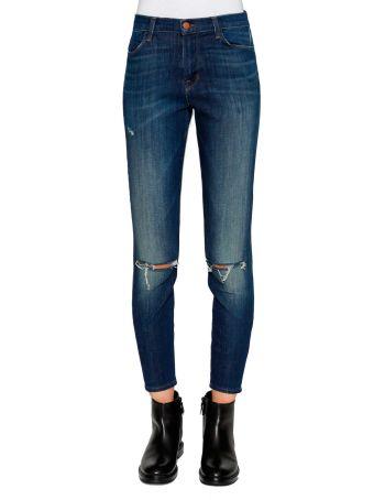 J Brand 'alana' Cropped Distressed High-rise Skinny Jeans