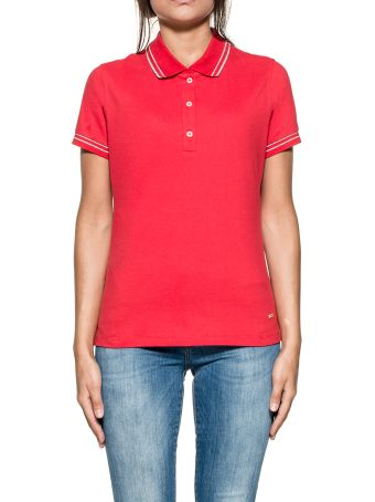 Red/silver Stretch Polos
