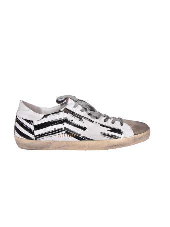 Golden Goose Sneakers Superstar White Flag
