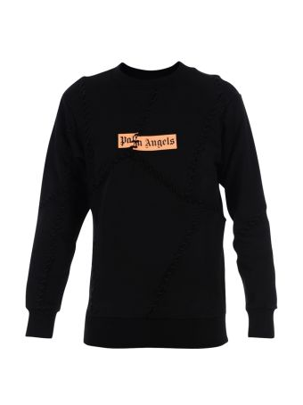 Black Orange Logo Crewneck