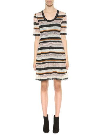 M Missoni Multicolor Striped Knitted Dress