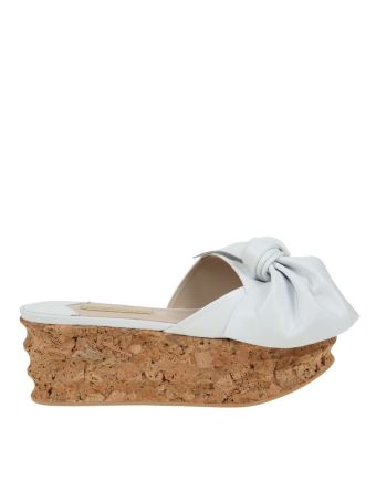 Paloma Barcelo' Isabelle Sandal Leather White
