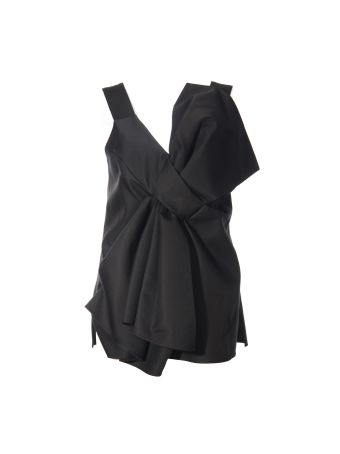 Victoria Beckham Black Bow Top