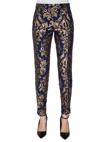 Parosh 'paperwal' Jacquard Trousers