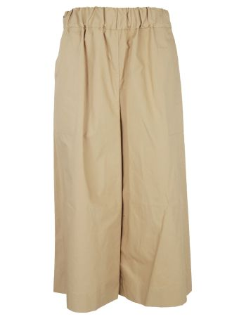 Sea Cropped Wide Leg Trousers