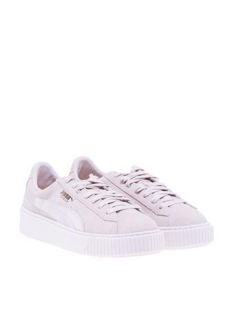 Puma Platform Satin Sneakers