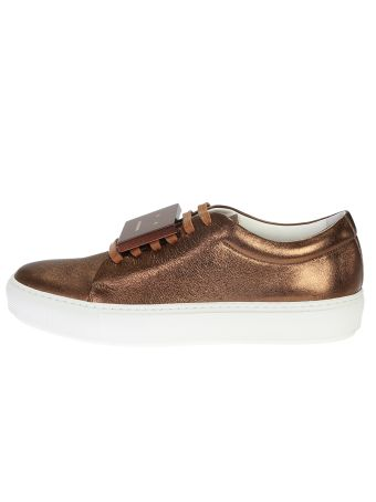 Copper Metallic Effect Leather Adriana Space Shoes