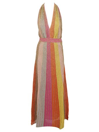 M Missoni Metallic Stripes Dress