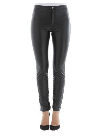 Black Polyurethane Pants