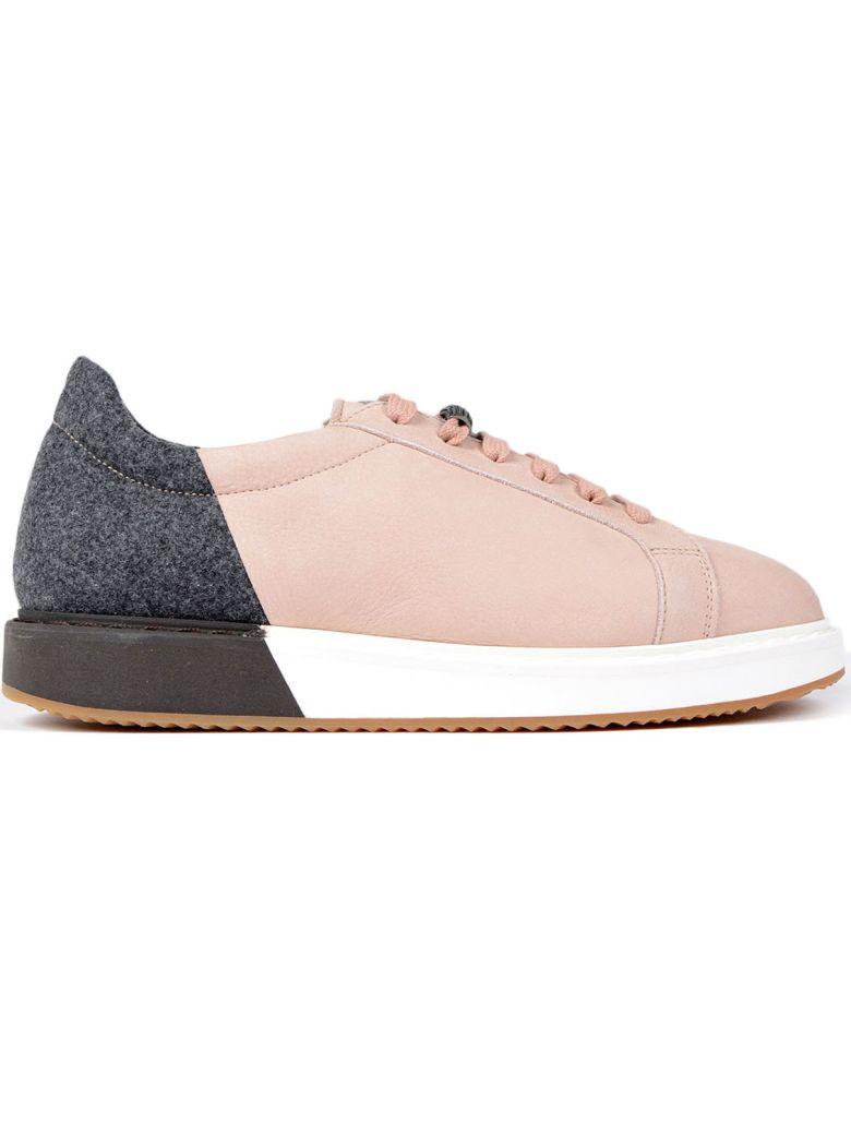 Brunello Cucinelli Colorblock Nubuck Platform Low-Top Sneakers