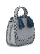 Rebecca Minkoff Chase Ice White And Blue Leather Handbag