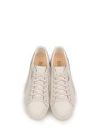 White Clyde Natural Leather Sneakers