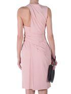 Alexander Wang Asymmetric Drape Crepe Sleeveless Dress
