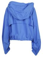 Msgm: Blue Hooded Windbreaker