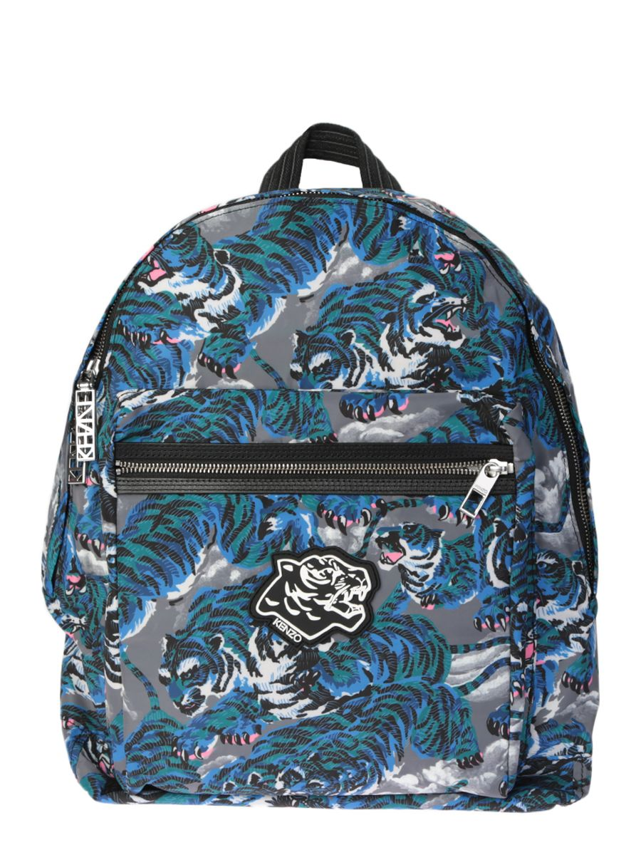 Printed Tigers Nylon Backpack