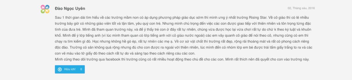 Viết đánh giá trên Kiddi.vn