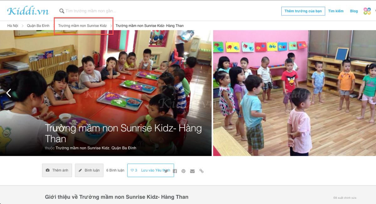 Hướng dẫn sử dụng công cụ tìm kiếm trên Kiddi.vn