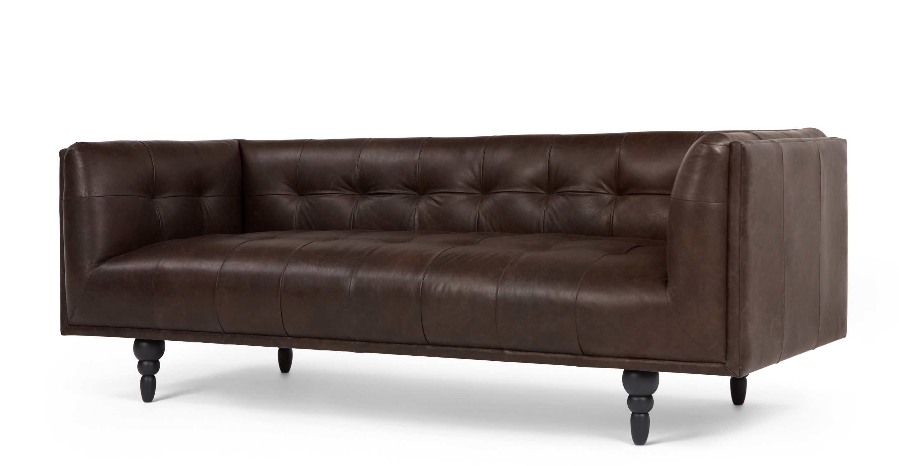 connor 3 seater sofa vintage brown premium leather. Black Bedroom Furniture Sets. Home Design Ideas
