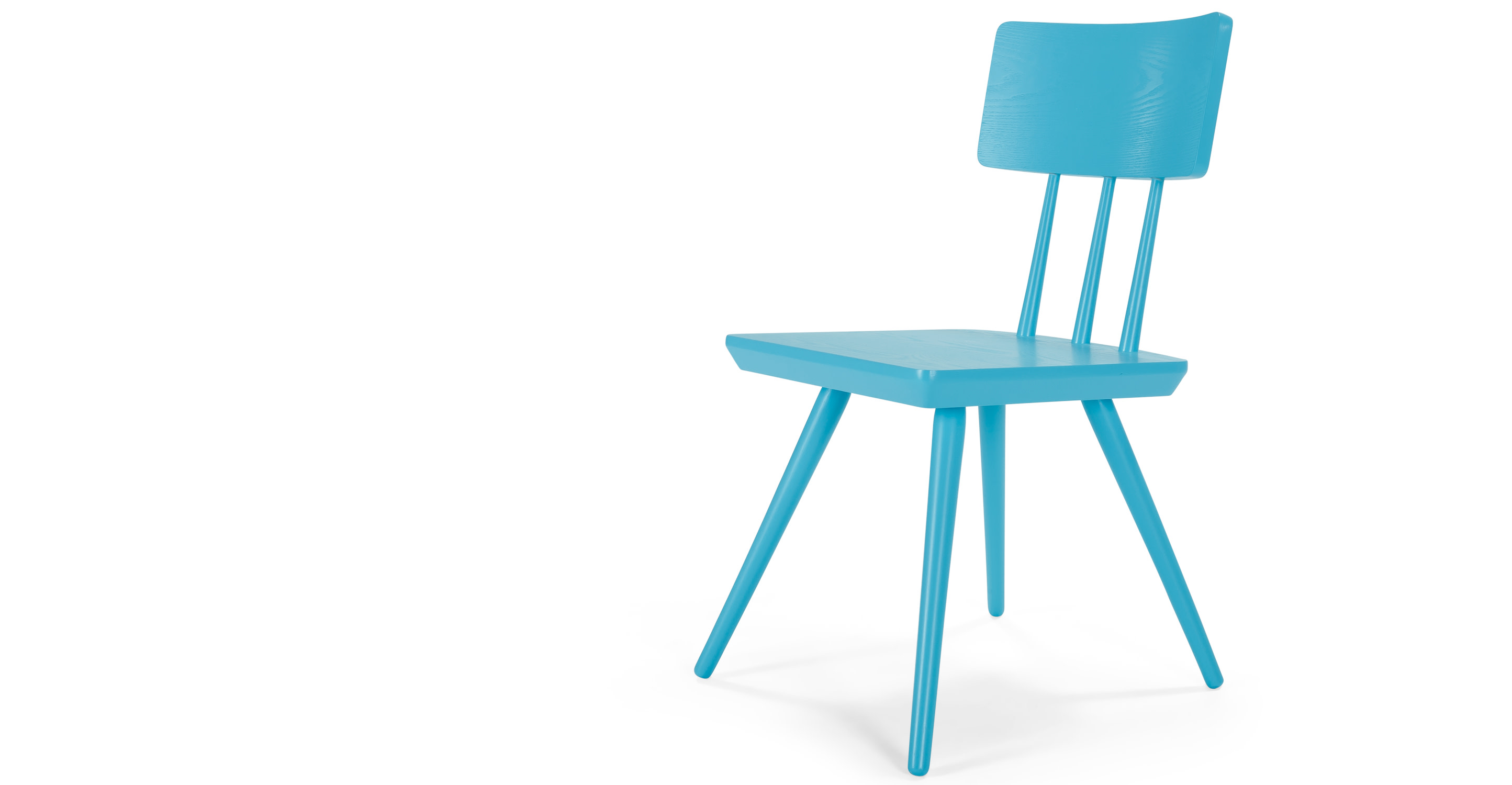 Cornell une chaise bleu turquoise for Chaise bleu turquoise